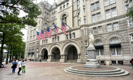 The Trump International Hotel, formerly the Old Post Office Pavilion, in Washington.