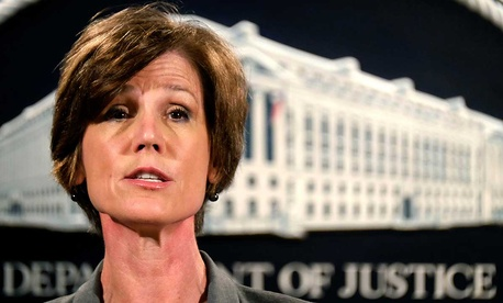 Deputy Attorney General Sally Yates speaks during a news conference at the Justice Department in Washington in June.