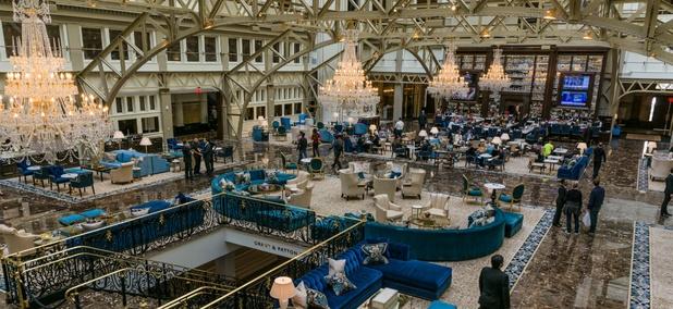 Inside the Trump International Hotel in Washington.