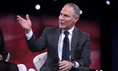 Environmental Protection Agency nominee Scott Pruitt is among the progressive's main targets.