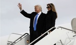 President-elect Donald Trump arrives at Andrews Air Force Base on Thursday.