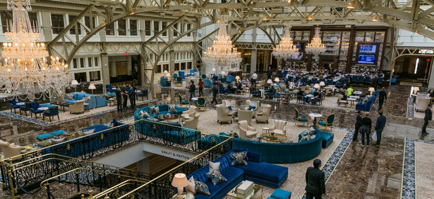 Inside the Trump International Hotel in Washington.