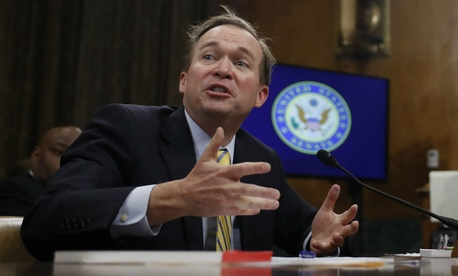 OMB nominee Mick Mulvaney testifies on Tuesday.