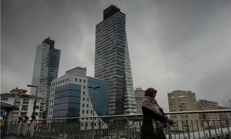 The manager of Trump Towers in Istanbul, above, had condemned Trump's calls to ban Muslims from entering the United States. Turkey was not included in the ban Trump issued Friday.