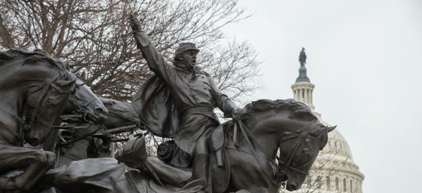 The Grant Memorial at the U.S. Capitol.