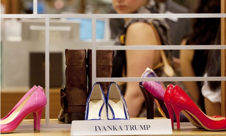 Shoes from the Ivanka Trump collection are displayed at a department store in New York in 2012.