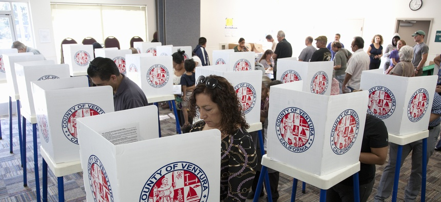 Californians vote in 2012 in Ventura County.