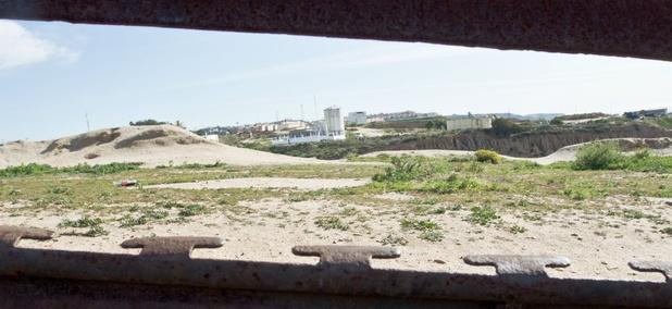 The view across the border into Tijuana, Mexico.