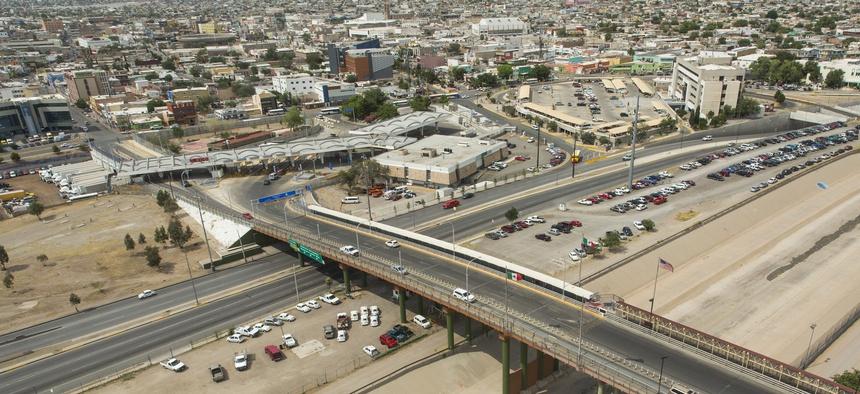 El Paso's Paso Del Norte port of entry is show in June 2016.