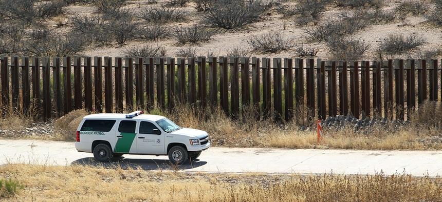 Border Patrol secures border fence line in Arizona in 2011.