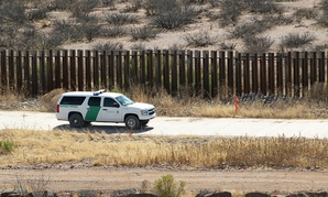 Border Patrol secures border fence line in Arizona in 2011.