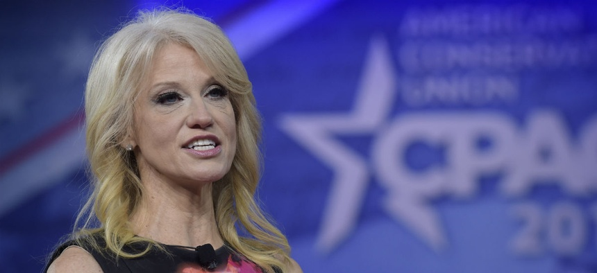 White House Counselor Kellyanne Conway speaks at the Conservative Political Action Conference on Feb 23.