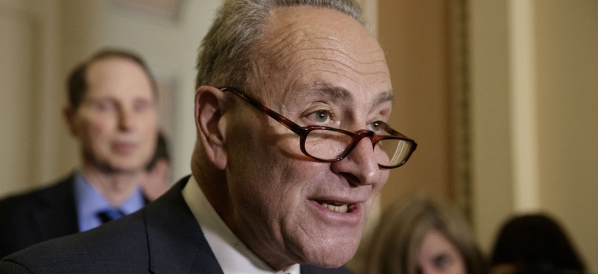 """Senate Minority Leader Chuck Schumer, D-N.Y., said that if Republicans fund the wall and address other controversial priorities, """"they will be shutting down the government."""""""