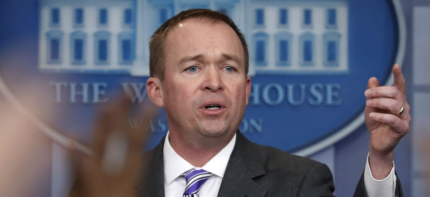 """OMB Director Mick Mulvaney said agency leaders will have """"more discretion than is typical"""" in determining workforce cuts."""
