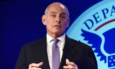 John Kelly speaks April 18 at the George Washington University.