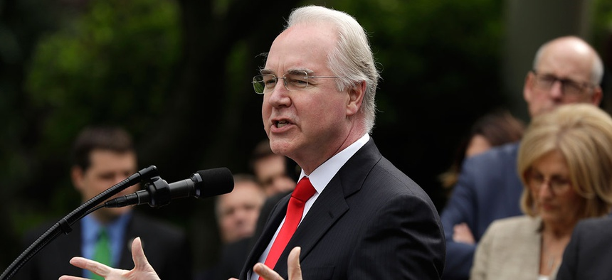 Price speaks at the White House on May 4.