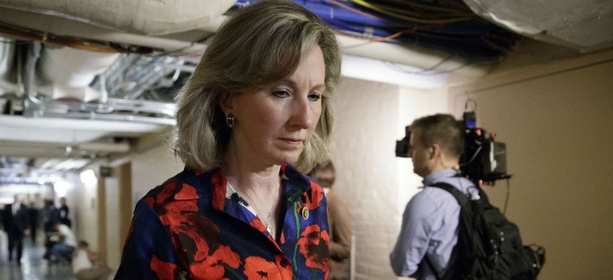 "Republican Rep. Barbara Comstock, Va., said: ""We cannot balance the federal budget on the backs of our federal workers."""