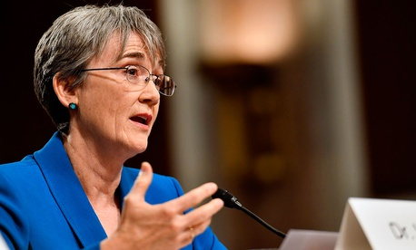 Secretary of the Air Force Heather Wilson testifies before the Senate Armed Services Committee, as a part of the confirmation process March 30, 2017, in Washington, D.C.