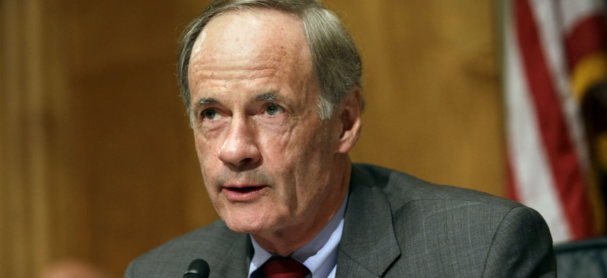 "Sen. Tom Carper, D-Del., told Republican colleagues, ""If a Democratic administration did this for you guys, you would shut the place down."""