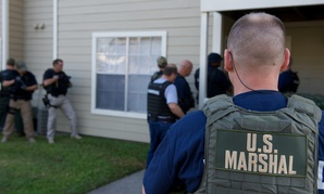 Marshals conduct operations in 2012 in New Orleans.
