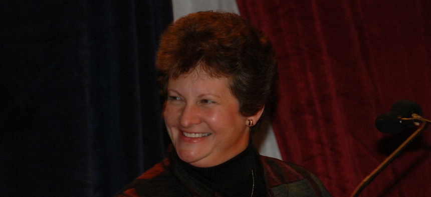 Linda Springer at the 2005 President's Quality Awards ceremony honoring progress made by federal agencies in improving management.