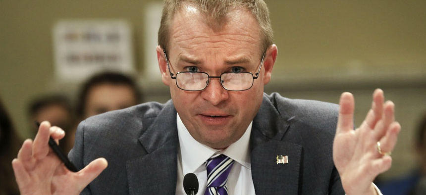 OMB Director Mick Mulvaney testifies on Capitol Hill in May.