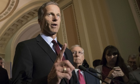 Sen. John Thune, R-S.D., said he remains open to the idea of moving air traffic control into a not-for-profit nongovernmental body.