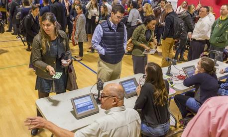 Voters go to the polls in Arlington, Va., on Nov. 8, 2016.