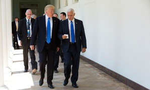 President Donald Trump and Vice President Mike Pence on July 19.