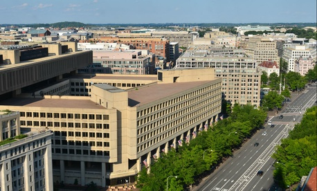 The overcrowded and outdated J. Edgar Hoover Building on Pennsylvania Ave. is home to the FBI.