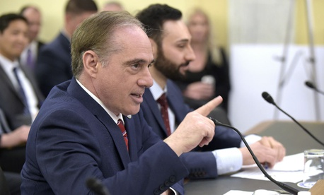 Veterans Affairs Secretary David Shulkin testifies on Capitol Hill in June.