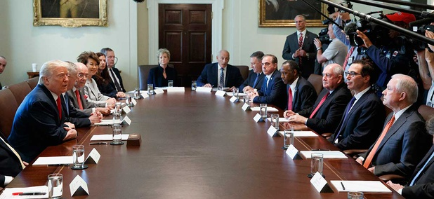 The Cabinet meets in July at the White House.