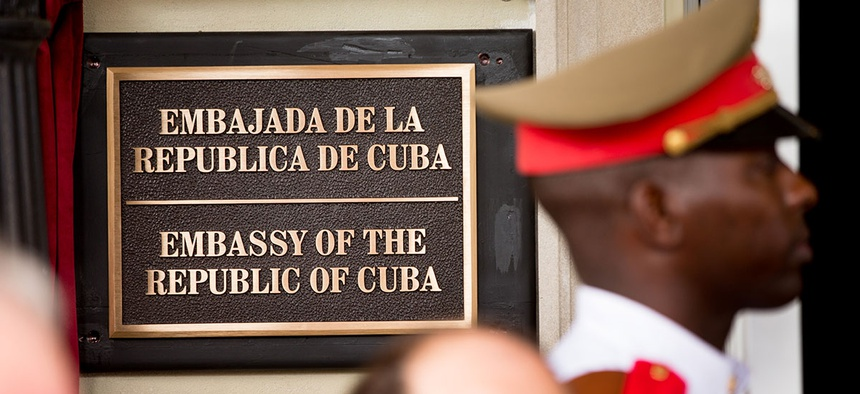 The Cuban embassy in Washington.