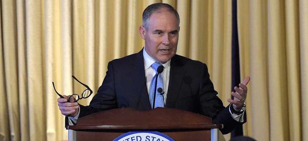 Environmental Protection Agency Administrator Scott Pruitt speaks in Washington in February.