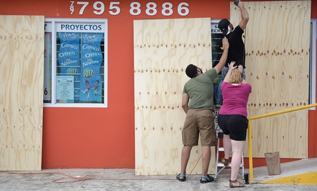 Residents making preparations for Hurricane Irma in Toa Baja, Puerto Rico, on Tuesday, Sept. 5, 2017