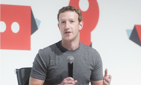 Facebook CEO Mark Zuckerberg speaking at the Mobile World Congress in March 2015 in Barcelona, Spain.