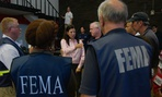 Acting Secretary of Homeland Security Elaine Duke meets with officials carrying out response and recovery efforts in Texas following Hurricane Harvey.