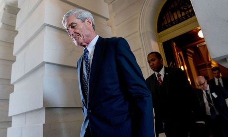 Special Counsel Robert Mueller departs after a closed-door meeting in Washington in June 2017.