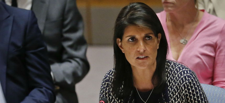 Ambassador to the U.N. Nikki Haley deleted the problematic message and has not engaged in any prohibited activity since.