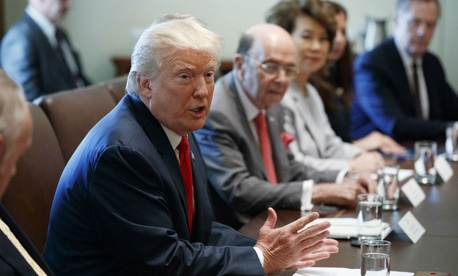 Trump holds a Cabinet meeting in July. HHS Secretary Tom Price recently resigned over his use of private charter flights at taxpayer expense, and a handful of other Cabinet members are now in hot water over their travel arrangements.