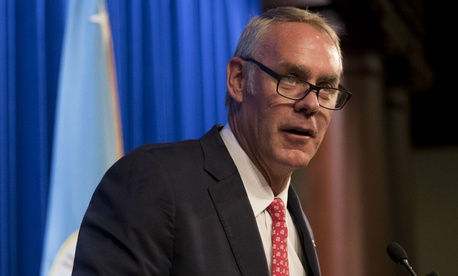 Interior Secretary Ryan Zinke has said he will have no tolerance for harassment in the workplace.