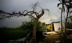 A  home damaged by Hurricane Maria in Toa Baja, Puerto Rico, is shown on Oct. 12.