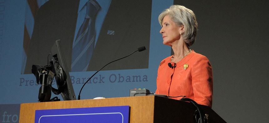 Former HHS Secretary Kathleen Sebelius is promoting open enrollment for the ACA exchange.