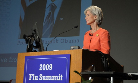 Former HHS Secretary Kathleen Sebelius is promoting open enrollment for the ACA exchange.