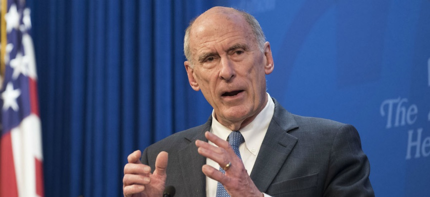 Director of National Intelligence Dan Coats speaks at a Heritage Foundation event in October.