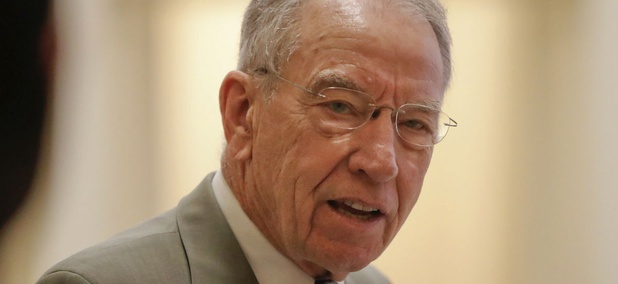 Sen. Charles Grassley, R-Iowa, sent a letter about Sharley to Intelligence Committee leaders.