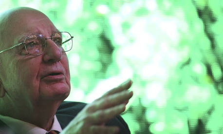 Former Chairman of the Federal Reserve Paul Volcker.