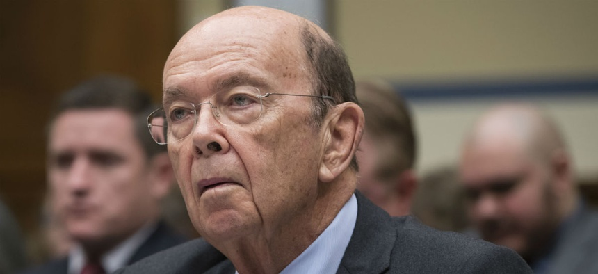 Commerce Secretary Wilbur Ross testifies before Congress in October.