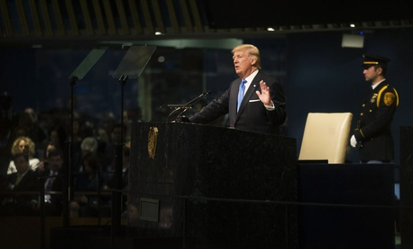 Trump speaks at the United Nations in September.
