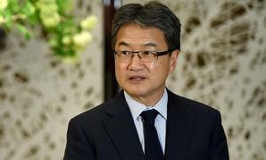 U.S. special envoy for North Korea policy Joseph Yun speaks in Tokyo in April.